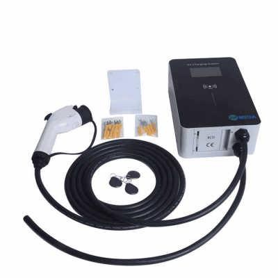 Single Phase 220V 32A 7KW Wallbox Type 1 EV Charger Station Electric Vehicle Car EV Charging Point with 5M Type 1 J1772 Plug