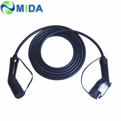 32A Type 1 to Type 2 EV Cable For Electric Car Charger