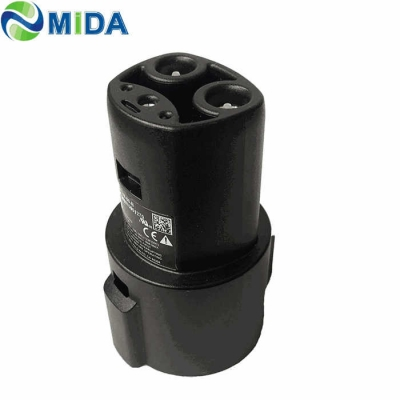60A Type 1 J1772 Socket to Tesla EV Charger Quick Adapter for Model X, 3, S