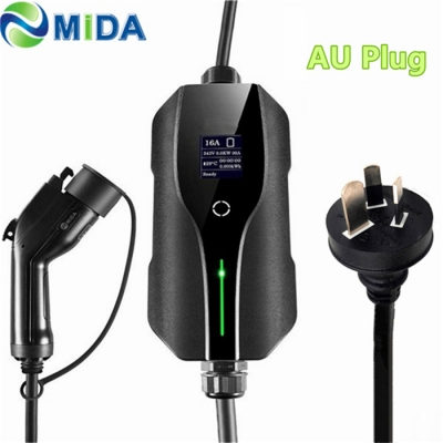 8A 10 Amp J1772 Plug Portable EV Charger Type 1 with AU /NZ Plug Electric Vehicle Car Charging
