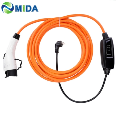 Duosida level 2 EV Charger 16A SAE J1772 EVSE Type 1 EV Plug EU schuko for Electric Car Charging Cable